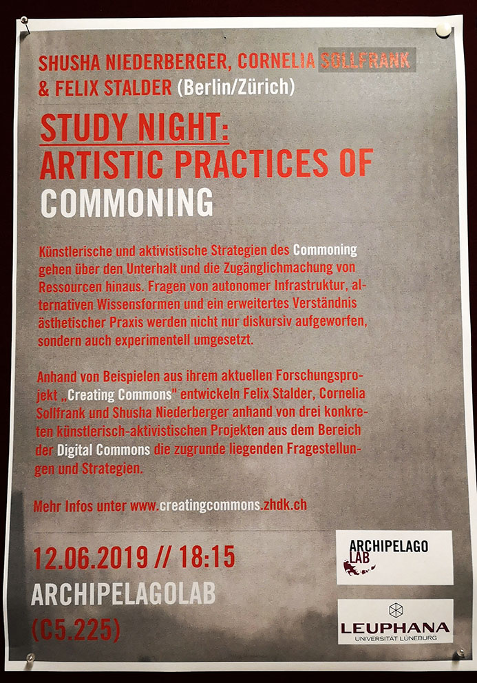 Study Night: Artistic Practices of Commoning